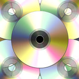 Compacts-disc/dvds Imagens de Stock