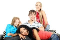 Compañeros de reclinación Imagen de archivo libre de regalías
