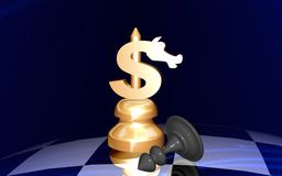 Compagni dell'assegno del dollaro Fotografia Stock Libera da Diritti