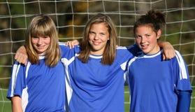 Compagni teenager di calcio della gioventù Fotografie Stock Libere da Diritti