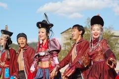 Compagnie Baikal de chanson et de danse Images libres de droits