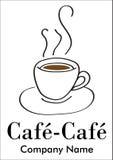 Compagnie de café ou logotype de bar Photos stock