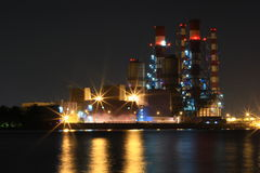 Compagnie de gaz de nuit Photos libres de droits