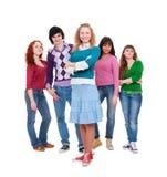 Compagnie des jeunes animés Image stock