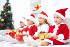 Compagnie drôle de Noël Images stock