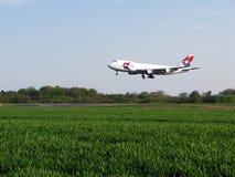 compagnies aériennes atterrissant le Mk photos stock