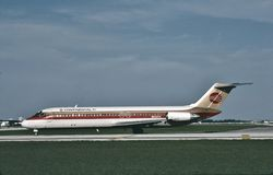 Compagnies aériennes continentales Douglas DC-9-32 N532TX à Dallas Photo stock