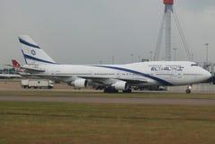 Compagnies aériennes d'El Al Israël enormes Photo libre de droits