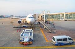 Compagnies aériennes de sri lankan d'aéronefs commerciaux Images stock