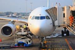 Compagnies aériennes de sri lankan d'aéronefs commerciaux Images libres de droits