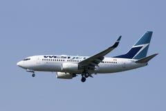 Compagnies aériennes de Westjet image libre de droits