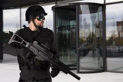 Compagnies de la défense, police armée image stock