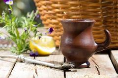 Companheiro da erva - chá tradicional na América Latina Imagem de Stock