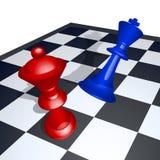 Companheiro da xadrez do rei ilustração royalty free