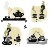 Companheiro do café do chá - jogo da bebida Fotografia de Stock