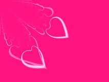 Companheiros de alma de Valentim-Dia do Fractal (com Copyspace) Foto de Stock Royalty Free