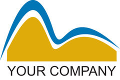Companhia do logotipo de Rio Foto de Stock