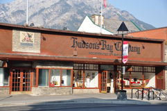Companhia do louro de Hudson, avenida de Banff Foto de Stock Royalty Free