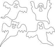 A companhia dos fantasmas. ilustração royalty free