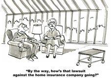 Companhia e processo legal de seguros Foto de Stock Royalty Free