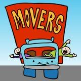 Companhia movente profissional ilustração royalty free