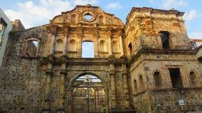 Compania de Jesús Церковь было построено около 1741 Церковь была разрушена огнем в 1781 Стоковые Изображения