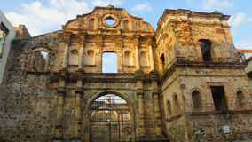 Compania de Jesús Church were constructed around 1741. The church was destroyed by a fire in 1781. Ciudad de Panama, Panama / Panama - December 15 2014 Stock Images