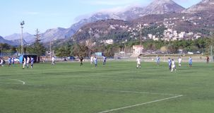 Companionable match between football teams in Montenegro