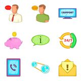Companionship icons set, cartoon style Royalty Free Stock Image