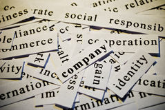 Company. Words related with business. Cut-out of words related with business activity stock photography