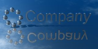 Company. 3d Presentation Business, Logo and Symbol Stock Photography
