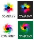 Company Abstract Stylized Flower Logo Stock Images