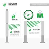 Company advertisment banner with clock and clip vector with nat. Ure logo. For web design and application interface, also useful for infographics. Vector stock illustration