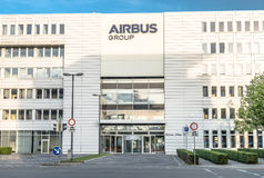 The company Airbus is producing close to the airport Royalty Free Stock Image