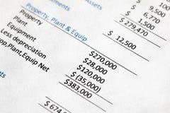 Company Balance Sheet Royalty Free Stock Photography