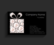 Company Business Card on Black Background. Royalty Free Stock Image