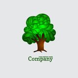 Company business icon with laced green tree Stock Photography