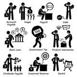 Company Business Liability Pictogram Clipart Stock Image