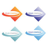 Company business logo. Company logo design isolated on white background Stock Photos
