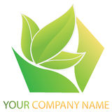 Company business logo. Company logo, design with floral elements Royalty Free Stock Photo