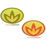 Company business logo. Company logo, design with floral elements royalty free stock image