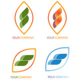 Company business logo. On white background Royalty Free Stock Image