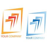 Company business logo. On white background Stock Images