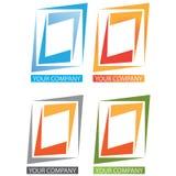 Company business logo. On white background Stock Photography