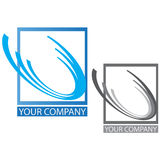 Company business logo. On white background Stock Photography