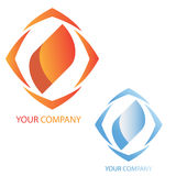 Company business logo. On white background Royalty Free Stock Photos