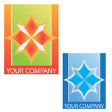 Company business logo. On white background Stock Photos