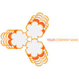 Company business logo. On white background Stock Image