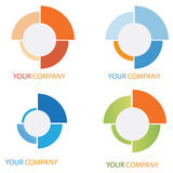Company business logo. On white background Stock Photo