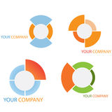 Company business logo. On white background Stock Image